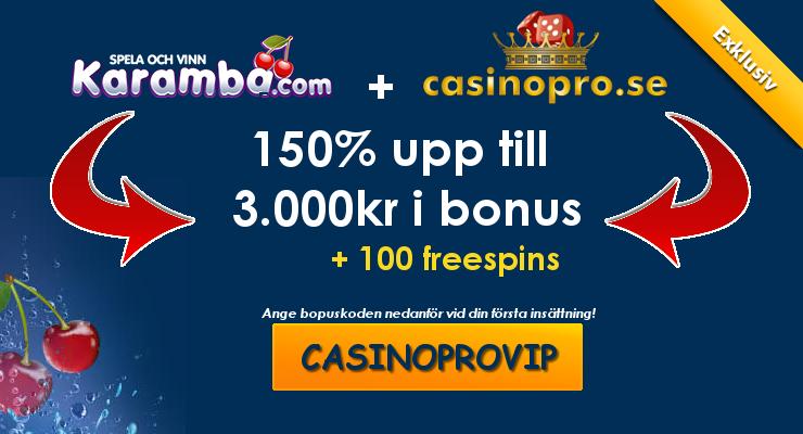 vip bonus hos karamba casino