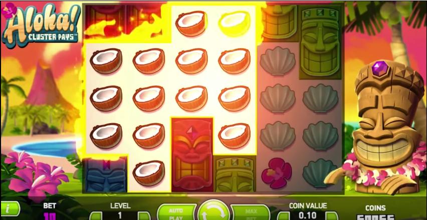 aloha cluster pays netent casinon