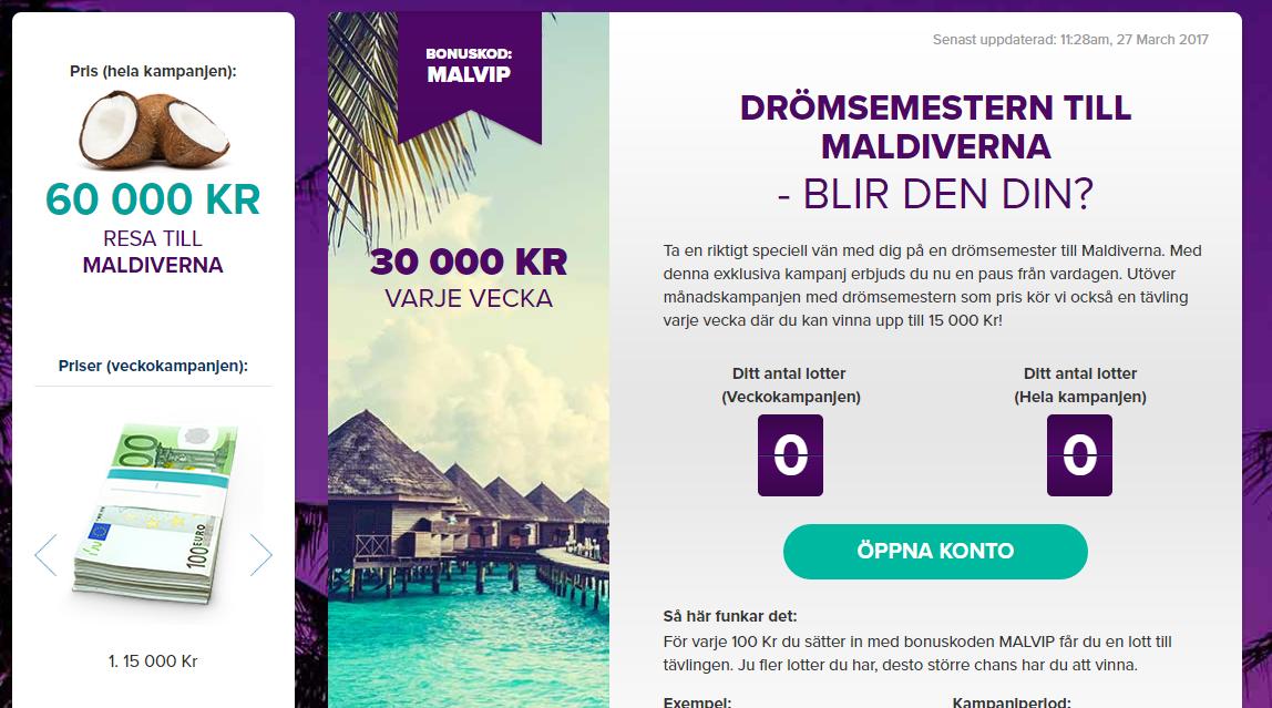 vinn en resa till maldiverna