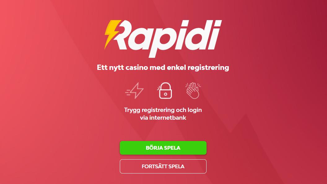 Rapidi casino lobby